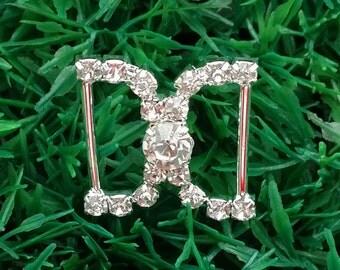 20 PCS Ribbon Slides, Wholesale Wedding Buckles Crystal Buckle, Rhinestone Wedding Supply, Wholesale Diamond Invitations, Buckle A13