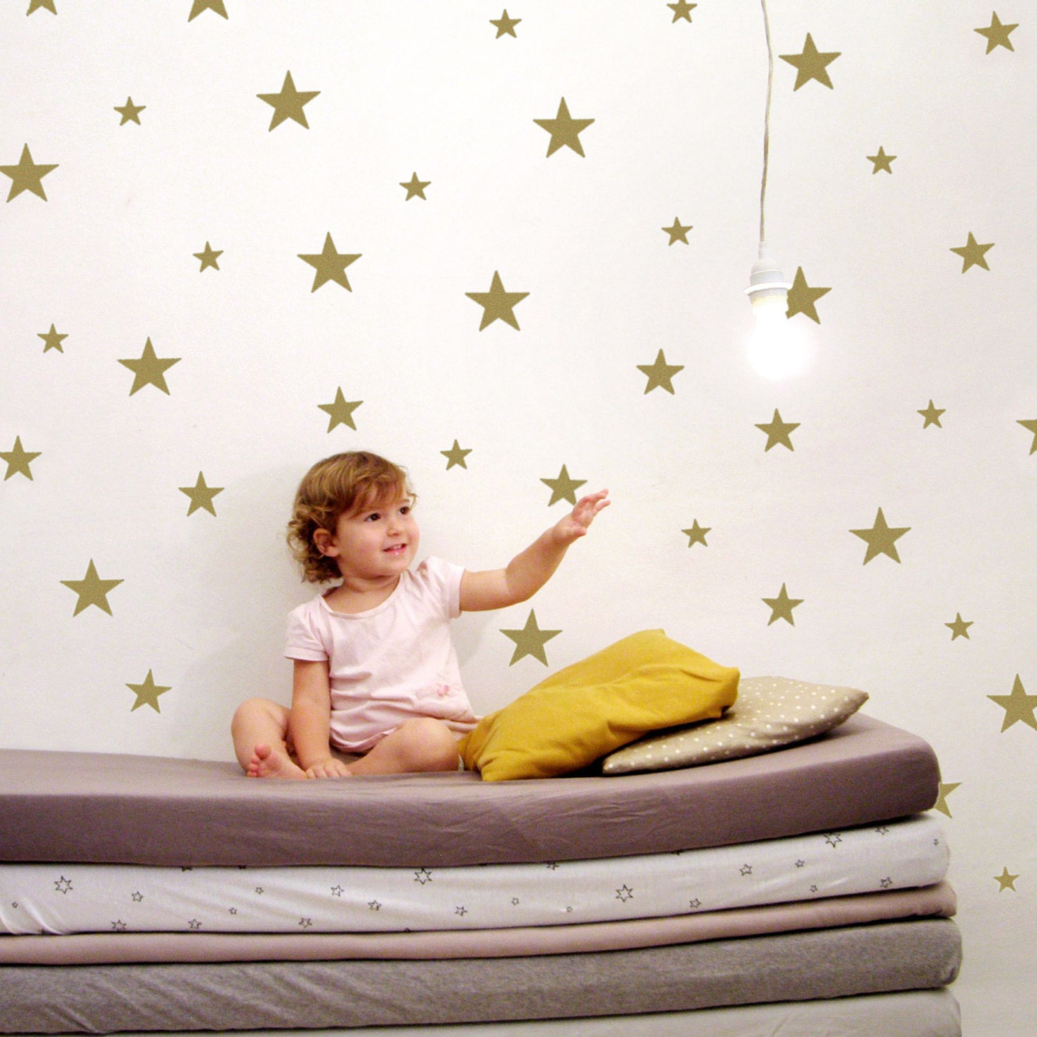 Large star wall decals star wall stickers gold nursery zoom amipublicfo Choice Image