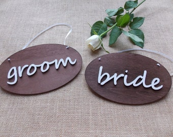 Bride groom - wedding signs/decorations/wedding accessory/wedding signs