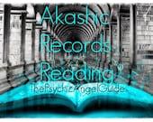 AKASHIC RECORDS READING Video format plus .Jpg