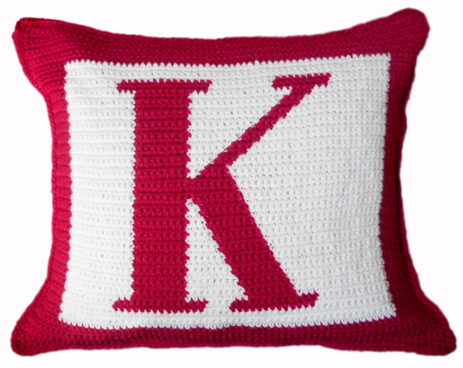 Free Crochet Letter Pillow Pattern : Crochet Pattern Letter K Crochet Pillow