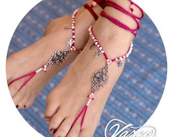 Purple Barefoot Sandal