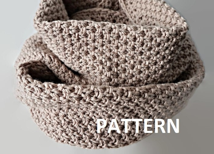 Knitting Pattern For Eternity Scarf : Knit Infinity Scarf Pattern Eternity Scarf Knitting by isWoolish