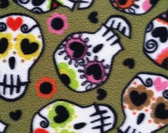 Fleece Fabric for your own DIY Projects Skulls Sugar Skulls