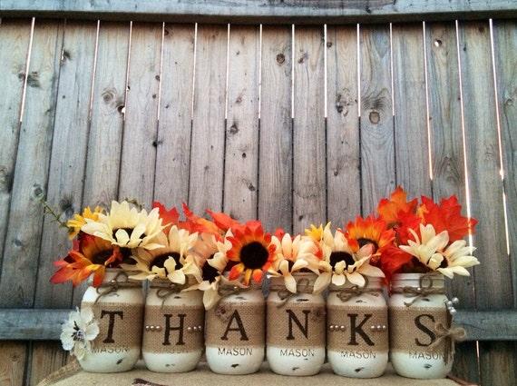 Thanks mason jars thanksgiving by
