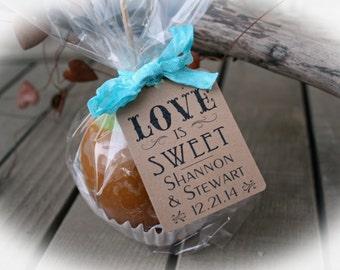 Bridal Shower Favors-DIY Bags/Favor Tags w/Ribbon - Love is Sweet Favors- Bridal Shower DIY Kits