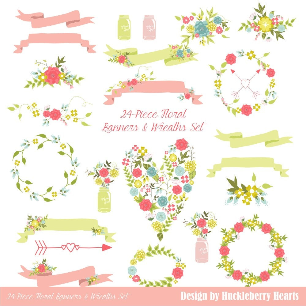 Wedding Banner Clipart Floral Clipart ...