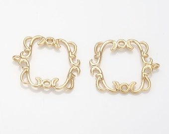 Antique Connector Pendant Matte Gold-Plated - 2 Pieces [AA0083-MG]
