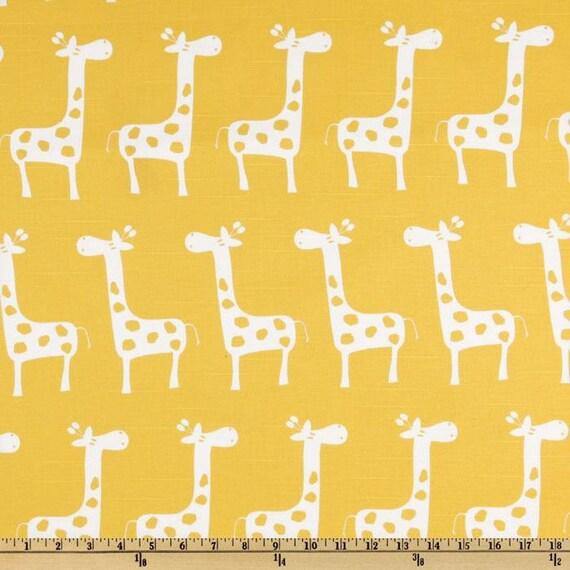 Giraffe fabric yellow baby fabric kids fabric for Yellow baby fabric