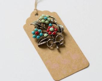 Vintage bouquet brooch
