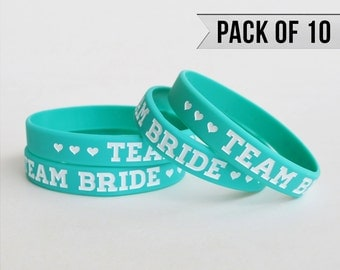 Bachelorette Party Favors - Bachelorette Party Bracelet - Teal - Pack of 10