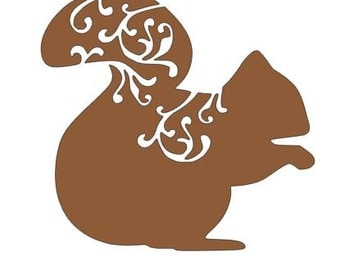 Squirrel Decal- Wall Decal, Cell Decal, Laptop Decal