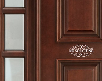 3 No Soliciting Decals Stylish and Attractive. Ships Free