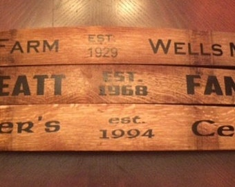 Personalized Wine Stave Signs
