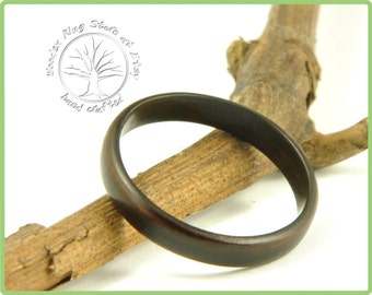 Ebony wooden ring. Engagement ring, wedding ring, promise ring, anniversary gift, ring for any other special occasion. Wooden jewellery.