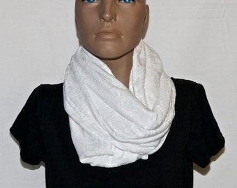 """White """"lace"""" Infinity Scarf"""