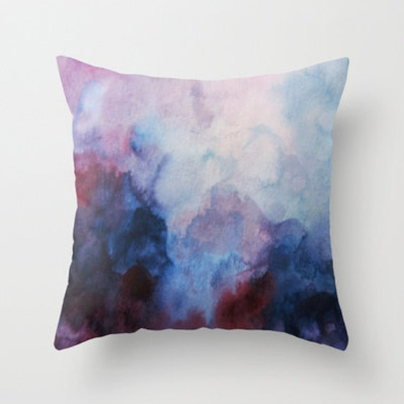 Watercolor Art, Art Pillow, Watercolor Pillow, Throw Pillow, Home Decor, Accent Pillow, with Optional Faux Down Insert