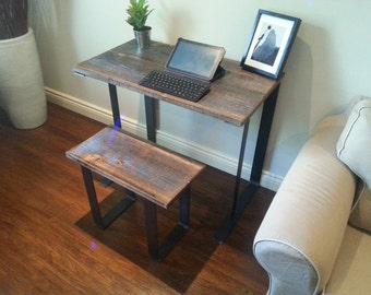 Old Barn Wood Desk with stool combo