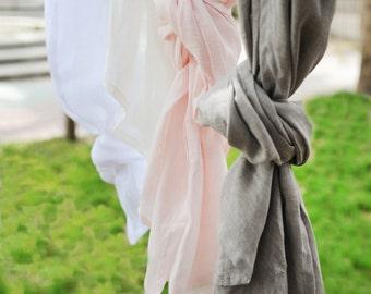 Soft Whisper Linen Curtain Panels for Nursery or Kid's Room | Pink, Gray, White or Off White
