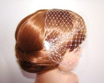 Blusher Veil - Wedding Blusher - Wedding Bridal Birdcage Veil - Bridal - Birdcage Veil - Short Veil - Hair Accessories