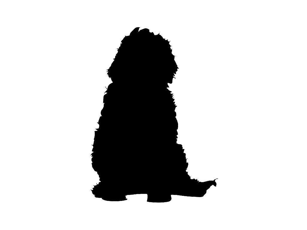 Labradoodle V1 Dog Breed Silhouette Custom Die Cut Vinyl Decal