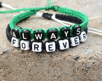 Couple Bracelets, Always and Forever, His and Hers Braclet , Couples Jewelry, Boyfriend Girlfriend Gift, Valentine's Day Gift CP-434