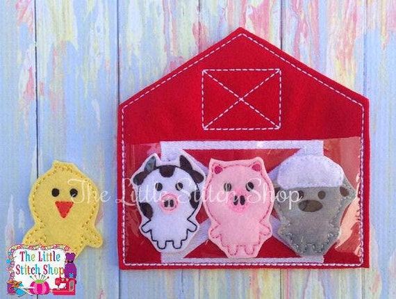 ITH Project - Barn Set Design - Feltie Embroidery Design