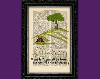The Little Prince page Art Print Le Petit Prince Gift Nursery Dictionary antique Art Poster Book Decor Dorm Gift Wall Exupéry quotes (Nº5)