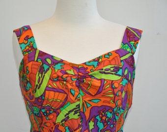 Handmade 1970's Silk Dress