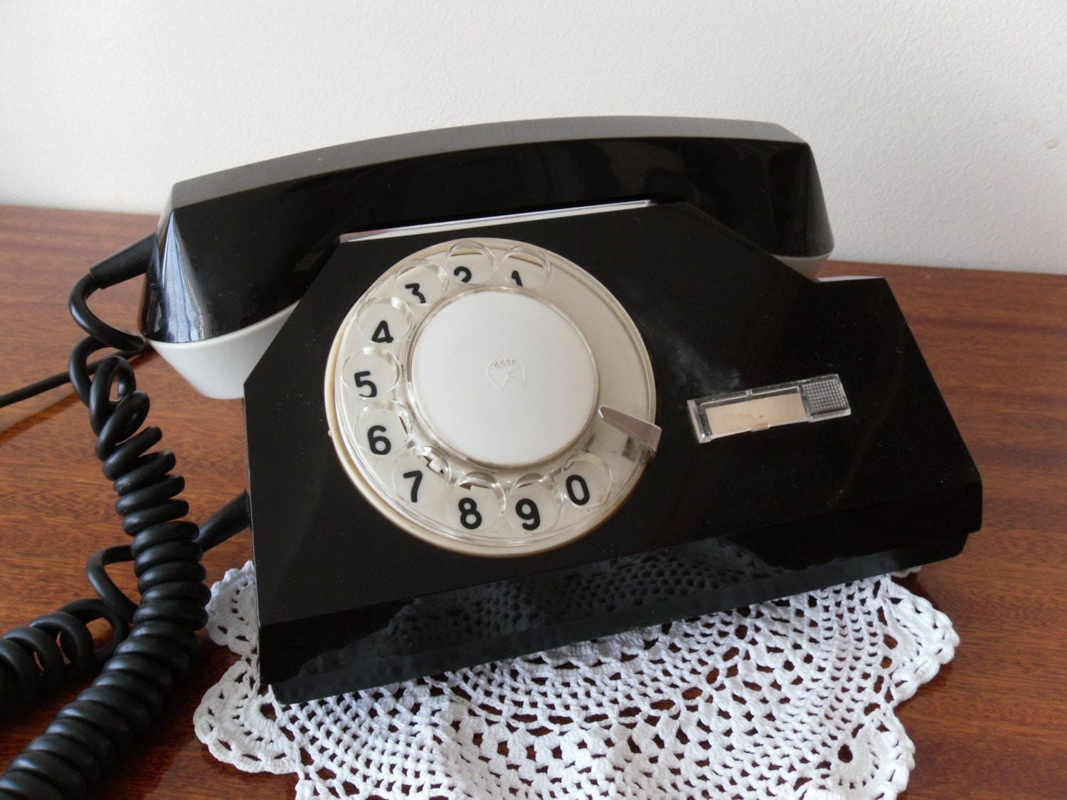 Phone Rotary SALE Dial Phone Black color Vintage by NataTrade