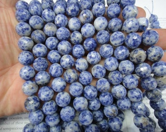 """faceted round - 12mm natural sodalite beads, 16"""" strand long"""