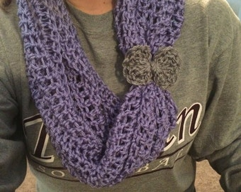 Crochet Scarf with Bow