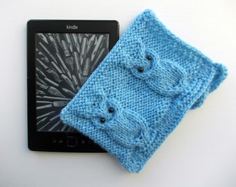 Kindle cover Knit kindle case knitted accessory owl/heart cover e-reader cover Cover for e-book kindle case kindle sleeve owls cozy e-reader