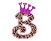Crown Applique Machine Embroidery Digitized Font - Instant Download