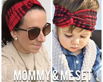 Red Plaid Mommy & me set