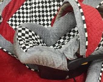 Alice In Wonderland Minky Infant Car Seat By