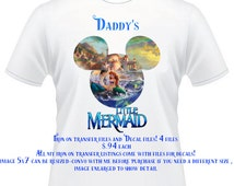 Little Mermaid DIY Iron On Transfer and decals - Disney Princess Ariel -Daddy's Little Mermaid iron on, decal, DIY shirt decals iron on's