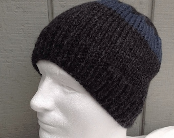 Knit mens beanie - Wool blend beanie - Mens knitted hats - Mens accessories - Teens knit hat - Christmas gift Men