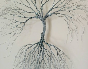 Wire Wall Decor custom made-wire wall art tree of life wall decoration-wire