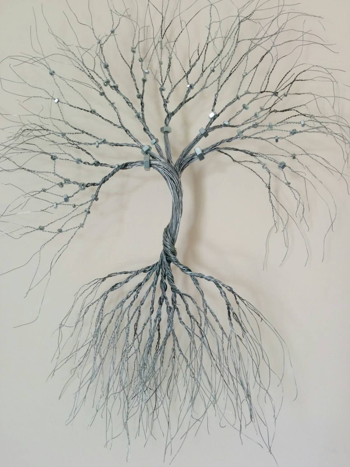 Silver wire wall art tree of life wall decoration decorative for Tree wall art