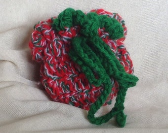 Unique Crocheted Small Pouch