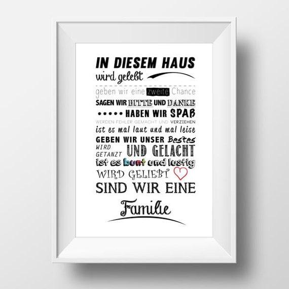 In sem Haus wird gelebt Kunstdruck Poster