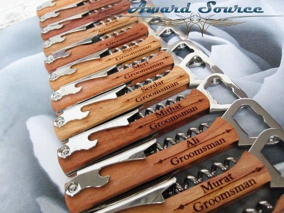 Personalized Corkscrew and Multi-Tool - Groomsmen Gifts - Wedding Party Gifts - Wine Opener