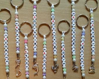 I love keyrings~elephants~wolves~chickens~dogs~cat~horse~great Christmas stocking filler gifts