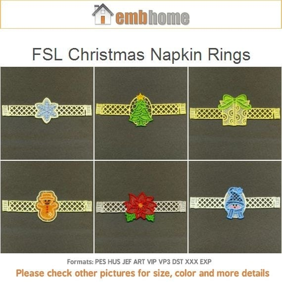 Items similar to fsl christmas napkin rings free standing