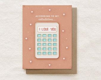Valentine Card, Anniversary, Love Card - Calculator