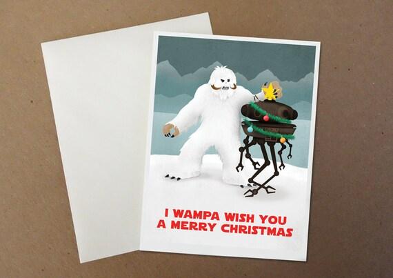 I Wampa Wish You A Merry Christmas Card