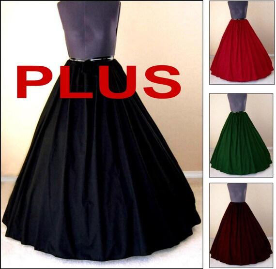 Medieval Dress Plus Size: RENAISSANCE COSTUME SKIRT Plus Size Clothes Medieval Civil War