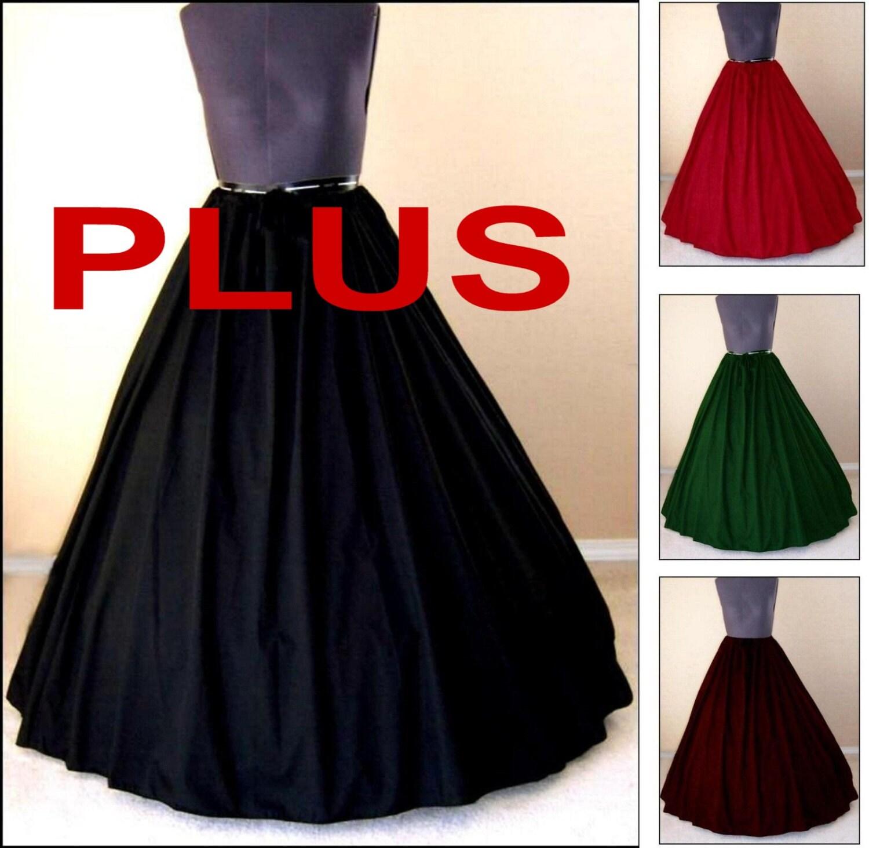 Plus Size Medieval Dresses: RENAISSANCE COSTUME SKIRT Plus Size Clothes Medieval Civil War