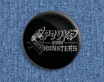 Sir Psyko and his Monsters Psychobilly button